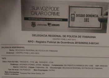 Agente de trânsito de Itabaiana registra Boletim de Ocorrência contra vereador por agressão