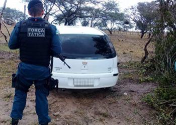Carro roubado na zona rural de Itabaiana é encontrado pela PM em estrada vicinal do município serrano