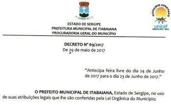 Por meio de decreto, Feira Livre � transferida do Dia de S�o de Jo�o para a v�spera