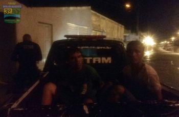 Infratores são presos pela PM por furto em estabelecimento comercial de Itabaiana