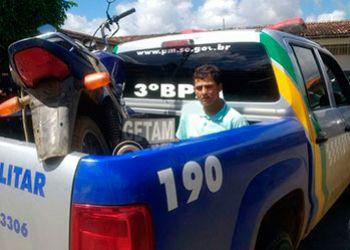Motocicleta tomada de assalto em bairro de Itabaiana é recuperada pela PM na zona rural