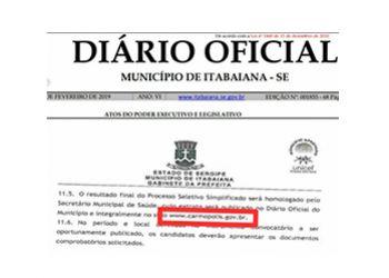 Prefeitura de Itabaiana/SE comete erro e candidatos ao Processo Seletivo s�o prejudicados
