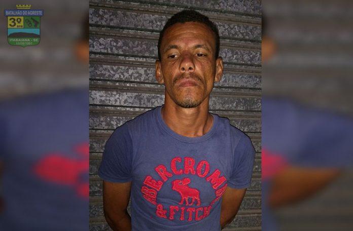 Indivíduo é preso pela PM após furtar aparelho de som automotivo em Itabaiana