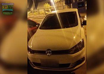 PM recupera na zona rural de Moita Bonita veículo tomado de assalto em Itabaiana logo após a ação criminosa