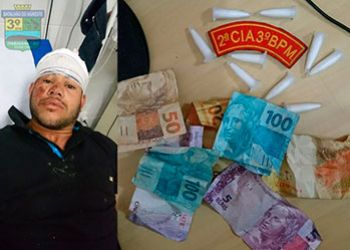 Indiv�duo � preso pela PM com droga ap�s entrada no hospital de Frei Paulo