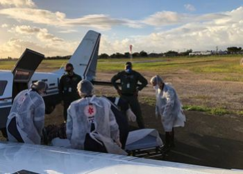 Caminhoneiro de Itabaianinha volta para o Estado de Sergipe em um avião bimotor do Grupamento Tático Aéreo