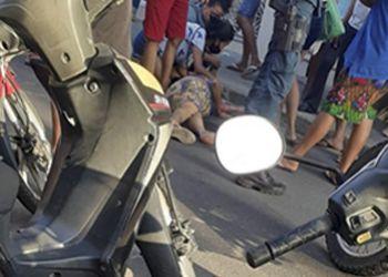 Idosa sofre graves lesões após ser atropelada por motocicleta no Centro de Itabaiana