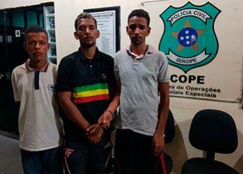 Irmãos e um comparsa são presos em Areia Branca no momento em que tentavam cometer um assalto dentro do hospital