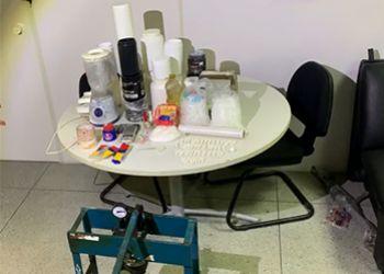 Pol�cia Civil localiza em Itabaiana laborat�rio de refino de droga