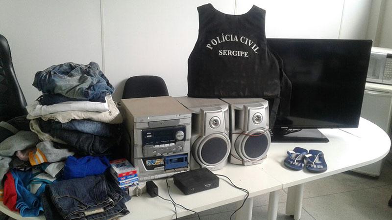 Eletroeletrônicos furto residência povoado Agrovila Itabaiana Sergipe