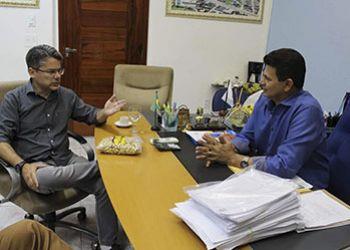 Delegado Alessandro Vieira visita prefeito de Itabaiana