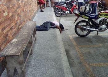 Mototaxista � assassinado por disparos de arma de fogo na cal�ada de cl�nica