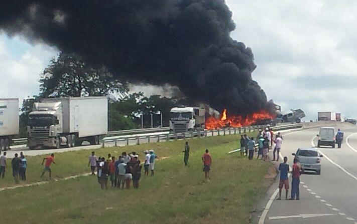 acidente BR-101 Sergipe São Cristóvão