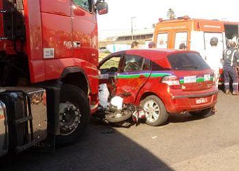 Condutor de motocicleta morre em Itabaiana após veículo de duas rodas ficar imprensado entre dois carros