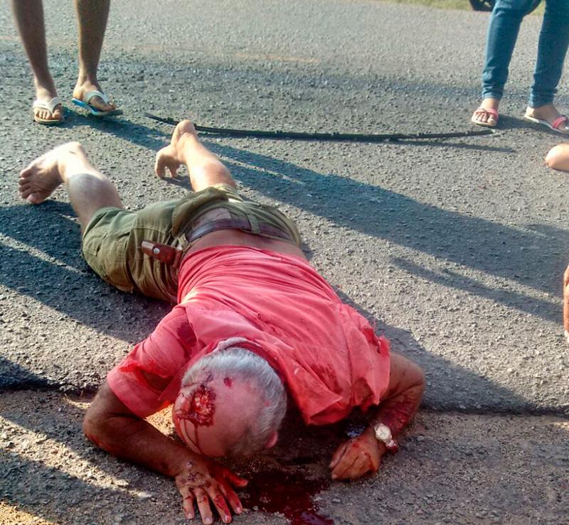 acidente rodovia Francisco Teles de Mendonça