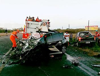 acidente BR-235 Terra Dura Itabaiana Sergipe