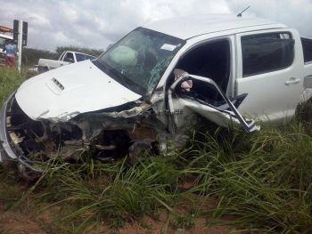 Empres�rio itabaianense do ramo da constru��o civil sofre acidente na BR-235
