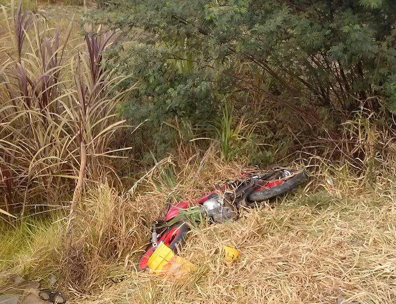 acidente motocicleta Lagoa do Capunga Moita Bonita Sergipe