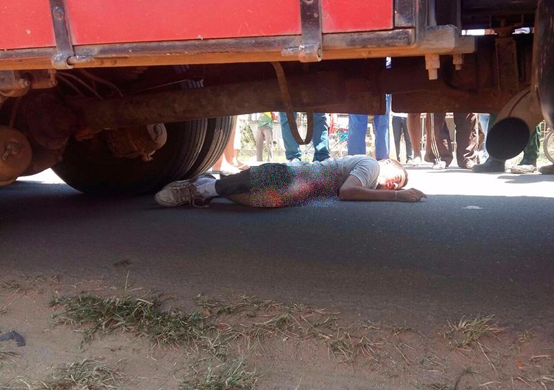 acidente motocicleta Caminhão Nossa Senhora da Glória Sergipe