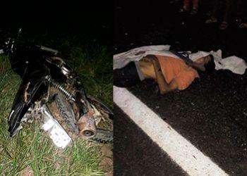 Motociclista morre na BR-235 ao colidir veículo de duas rodas com carreta