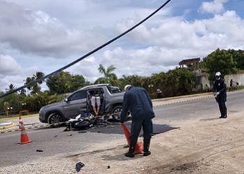 Condutor de motocicleta morre ao colidir com carro na capital sergipano