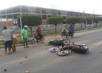 Em Itabaiana (SE): Imprud�ncia de motociclista ocasiona colis�o na BR-235