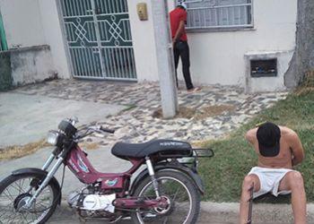 Abordagem: PM apreende arma de fogo na periferia de Itabaiana em poder de adolescentes