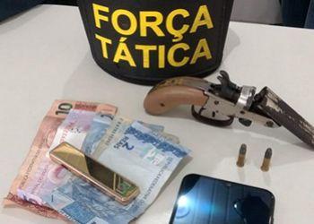 Policia Militar realiza prisão por porte ilegal de arma de fogo em Itabaiana