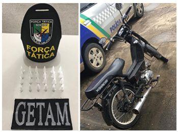 Polícia Militar realiza detenção por tráfico de drogas e cumpre mandado de prisão em Itabaiana