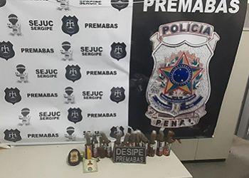 Três homens são flagrados pela Polícia Penal ao tentar entrar com drogas em Unidade Prisional