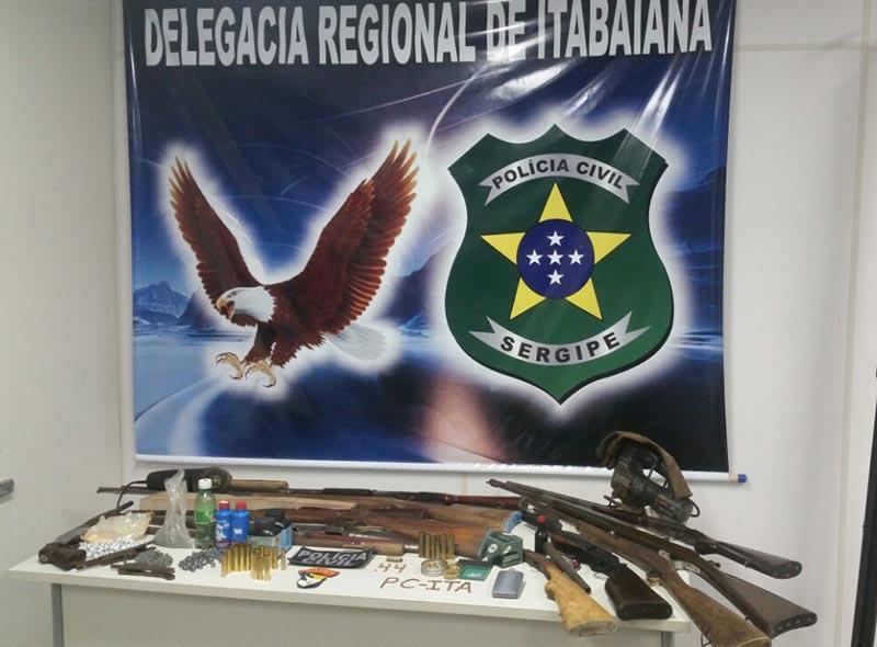armas apreendidas Areia Branca Sergipe