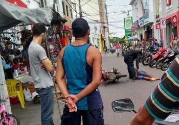 Dupla é presa em flagrante após delito de roubo no Centro da cidade serrana