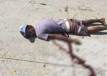Com emprego de arma perfuro-cortante, homem comete homic�dio e dupla tentativa de morte