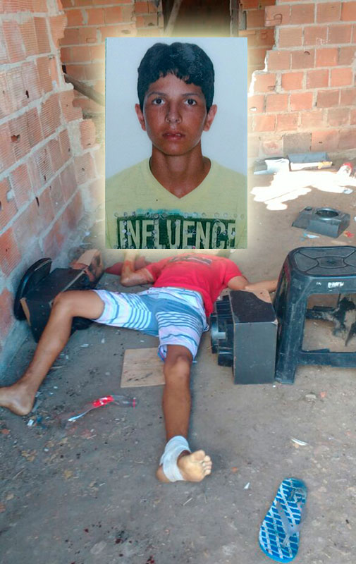 assassinato adolescente Itabaiana Sergipe