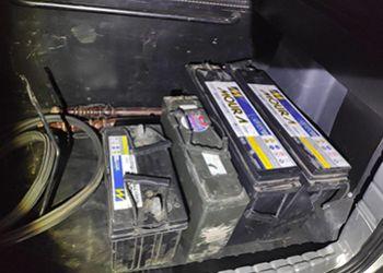 Baterias furtadas de operadoras de telefonia em Itabaiana são recuperadas pela Polícia Militar