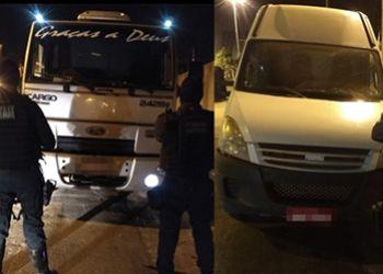 A��es de equipes da Pol�cia Militar resultou na recupera��o de dois ve�culos e na pris�o de suspeitos