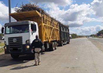 Operação da PRF flagra veículos com mais de 65 toneladas de excesso de peso na BR 101