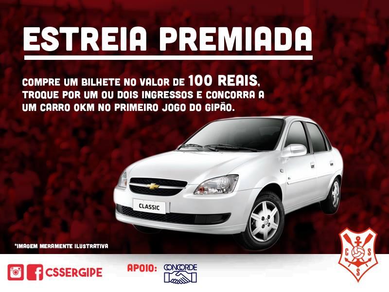 Club Sportivo Sergipe sorteio carro Zero Km