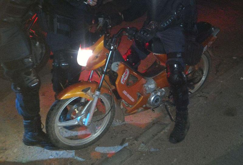 ciclomotor Jonny roubado Itabaiana Sergipe cocaína