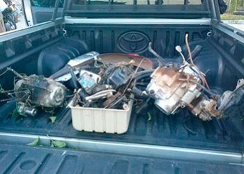 Ciclomotores s�o encontrados desmanchados em resid�ncia na cidade de Itabaiana
