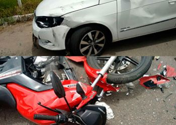 Acidente envolvendo carro e motocicleta volta a ser registrado na BR-235