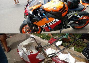 Vendedora de lanches é atropelada por motocicleta na BR-235, em Itabaiana
