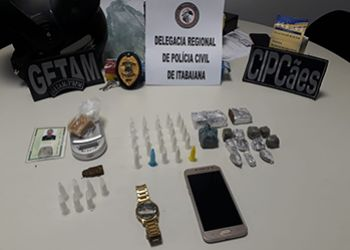 Operação conjunta das Polícias Civil e Militar resulta na prisão de traficante e apreensão de adolescente