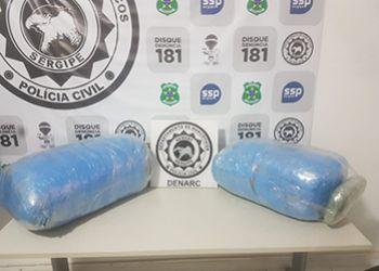 Polícia Civil apreende droga que abasteceria o Alto Sertão Sergipano