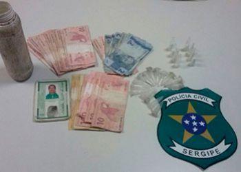 Dono de bar � preso pela Pol�cia Civil de Itabaiana por com�rcio il�cito de drogas
