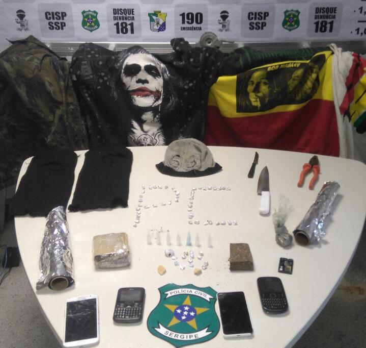 tráfico de drogas residência bairro Bananeira Itabaiana Sergipe