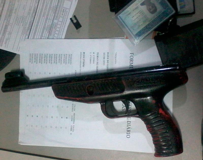 pistola pressão assalto Itabaiana Sergipe