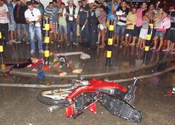 Tentativa de assalto terminou com um suspeito morto e outro gravemente ferido ap�s serem perseguidos pela v�tima