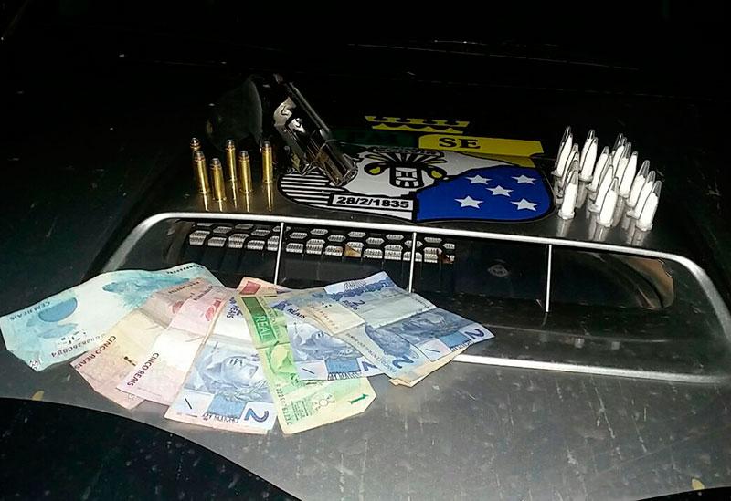 arma de fogo e cocaína Itabaiana Sergipe