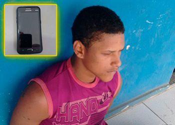 Ap�s roubar aparelho de telefone celular assaltante � preso em flagrante pela PM no centro da cidade de Itabaiana